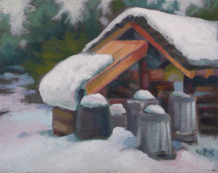 Behind the Wood Shed - 8x10
